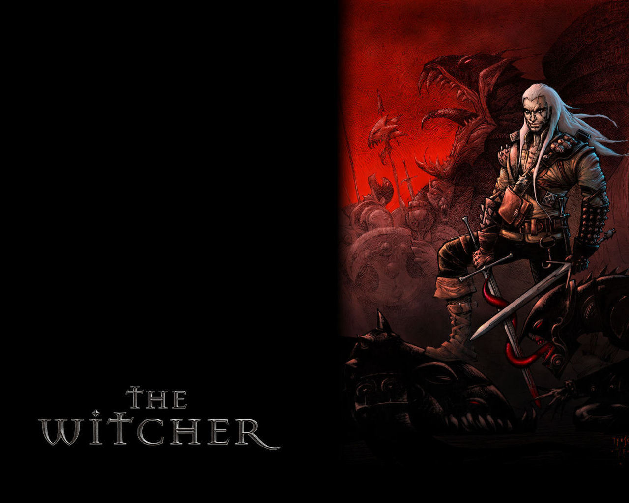 Арт к игре The Witcher