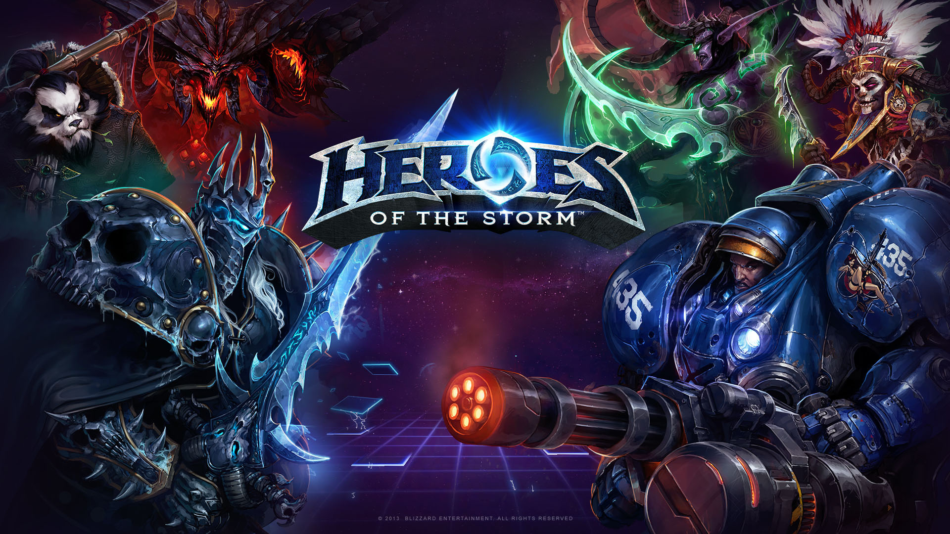 Арт к игре Heroes of the Storm