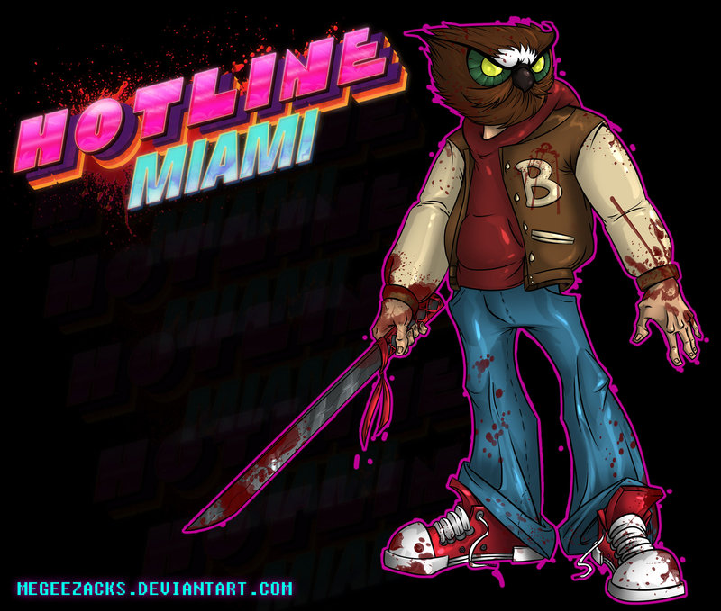 Арт к игре Hotline Miami