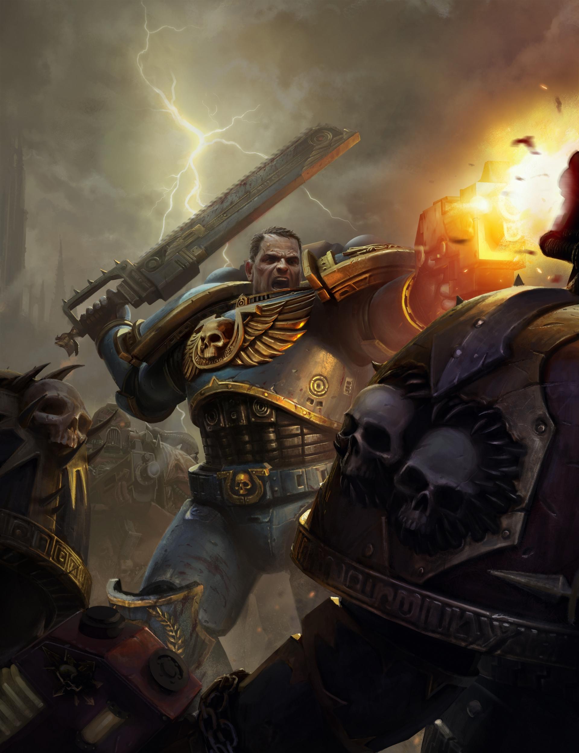 Арт к игре Warhammer 40,000: Space Marine