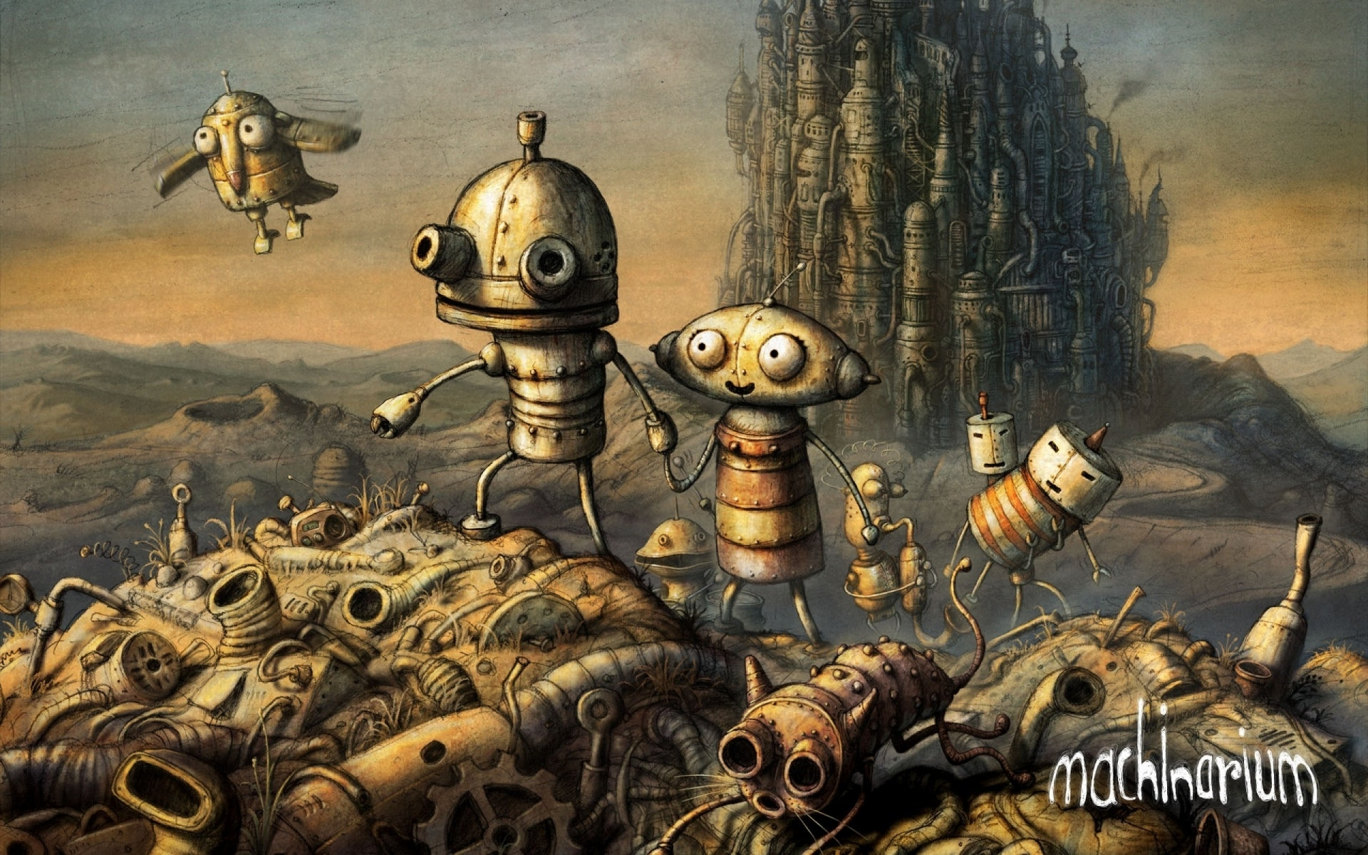 Арт к игре Machinarium