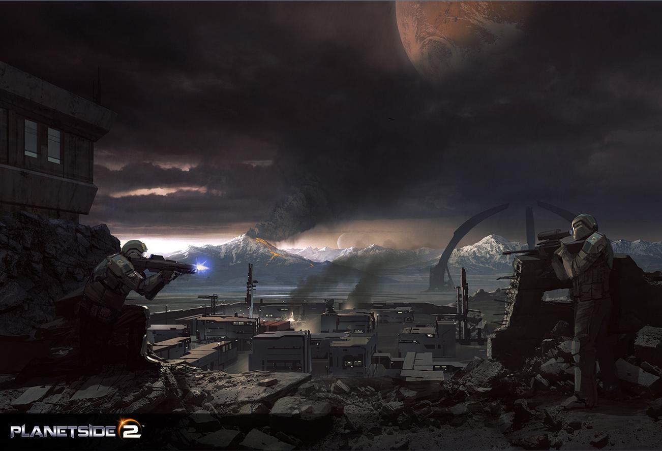 Арт к игре PlanetSide 2