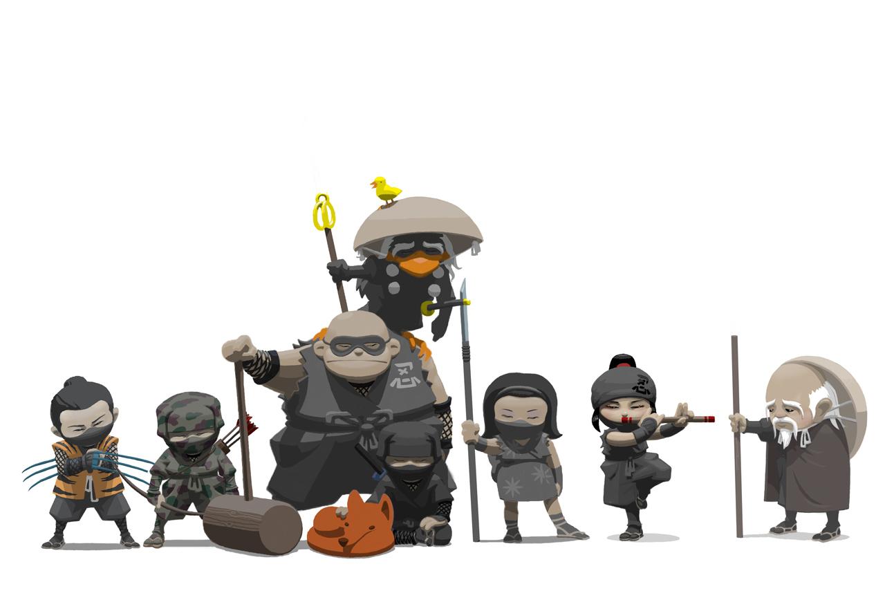 Арт к игре Mini Ninjas