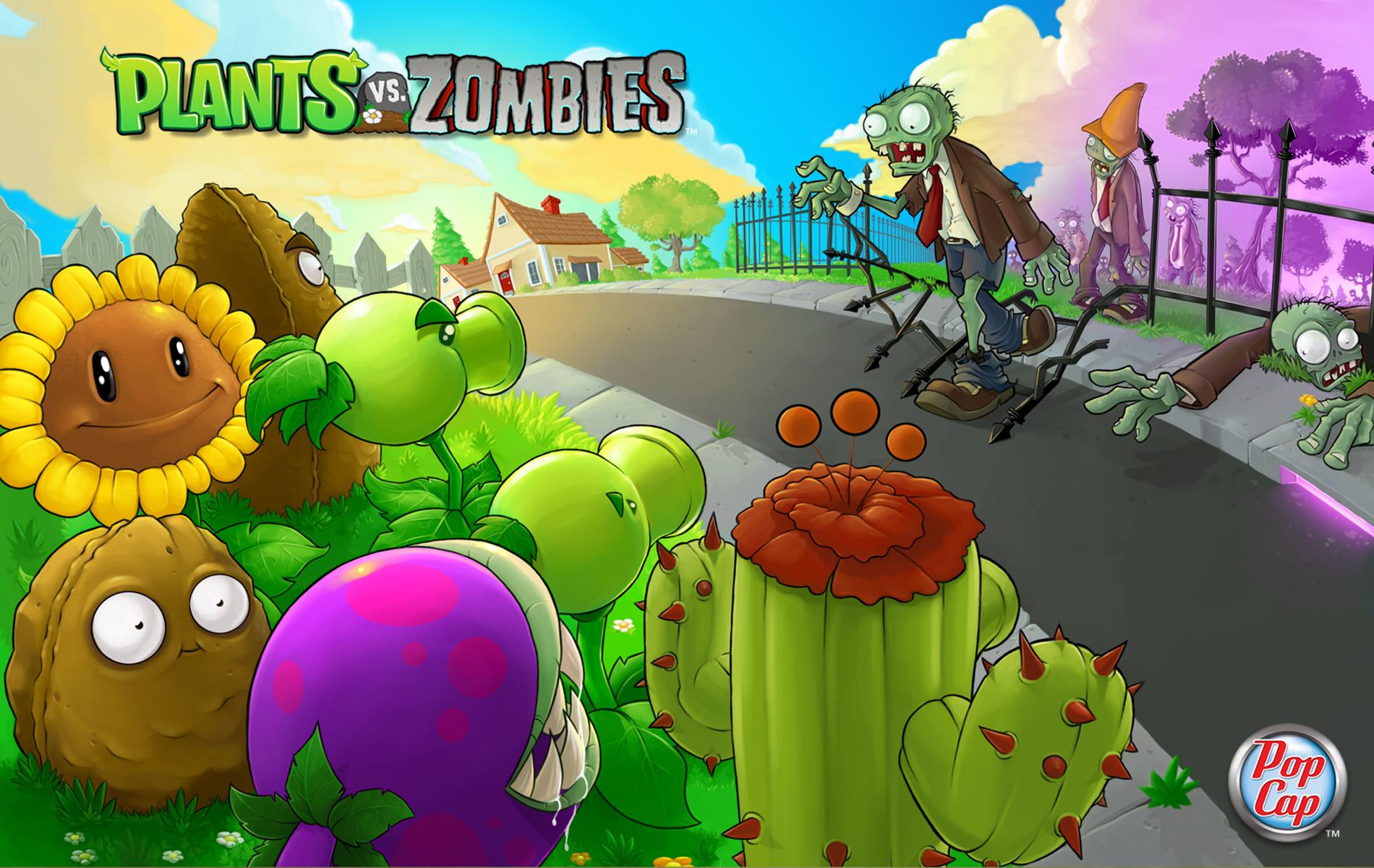Арт к игре Plants vs Zombies