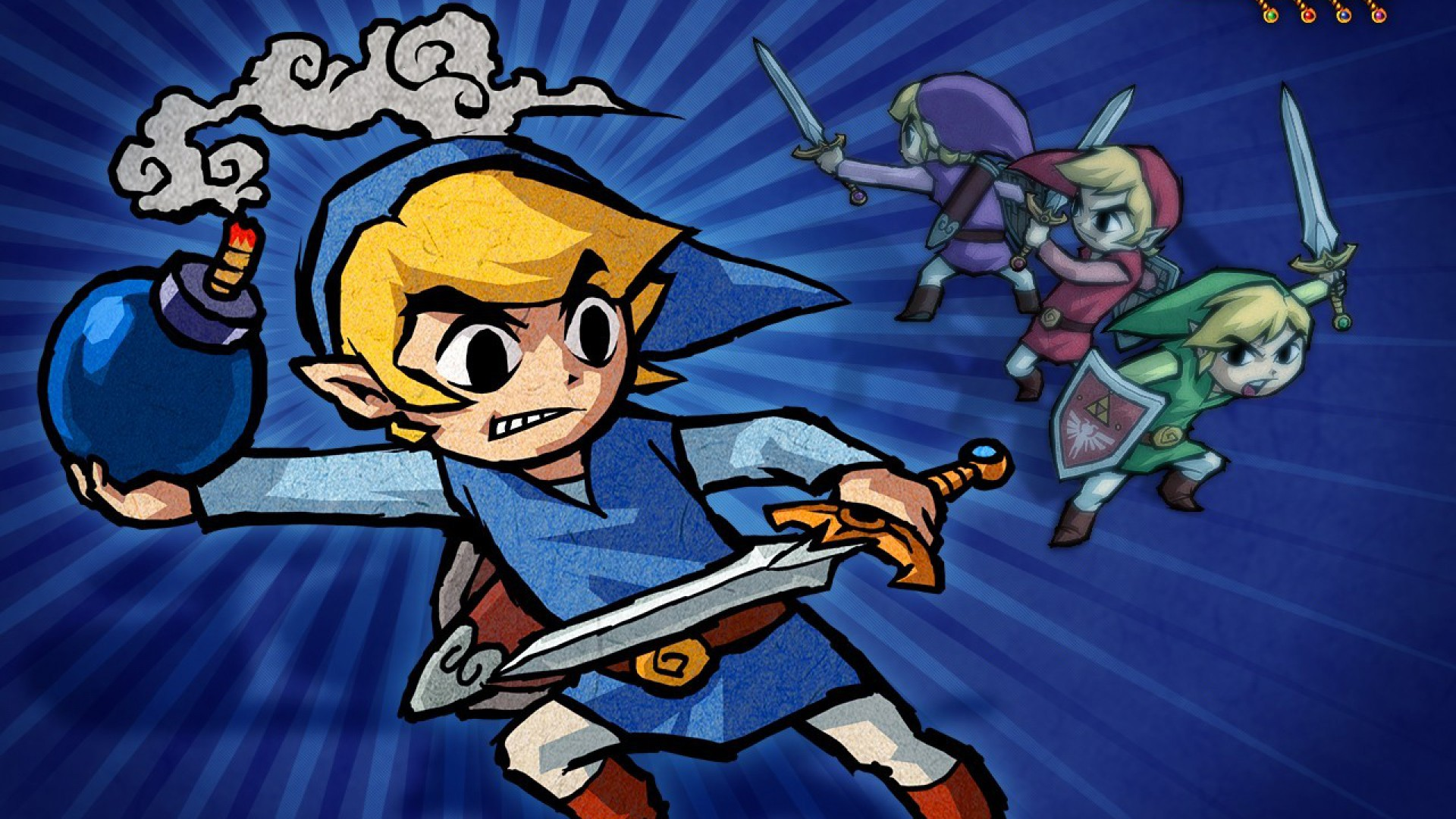 Арт к игре The Legend of Zelda: Four Swords Adventures