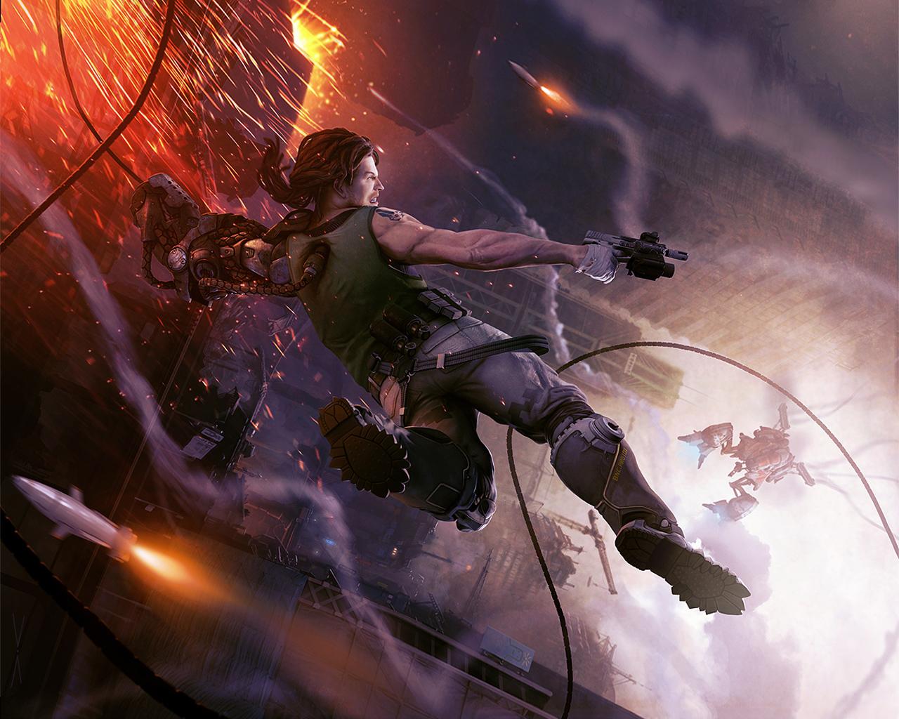 Арт к игре Bionic Commando