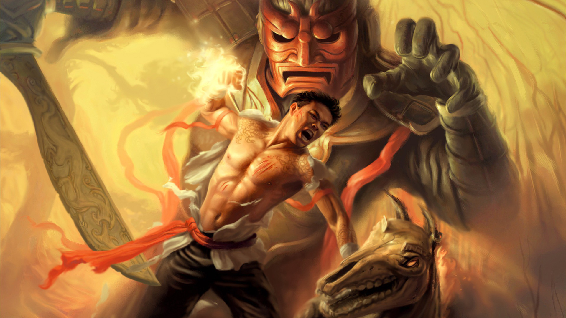 Арт к игре Jade Empire