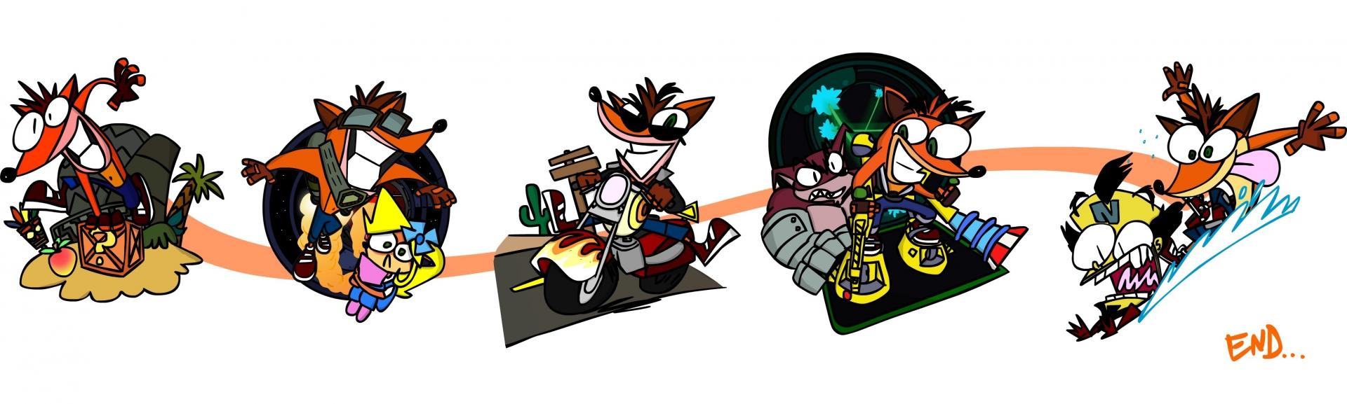 Арт к игре Crash Bandicoot