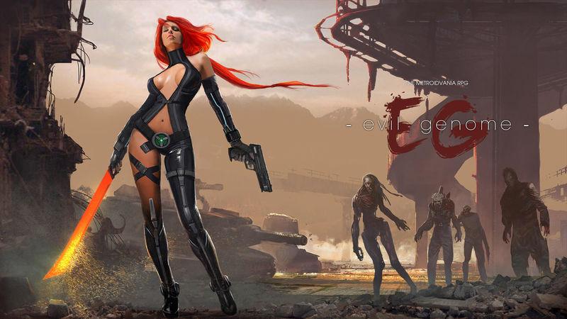 Арт к игре Evil Genome