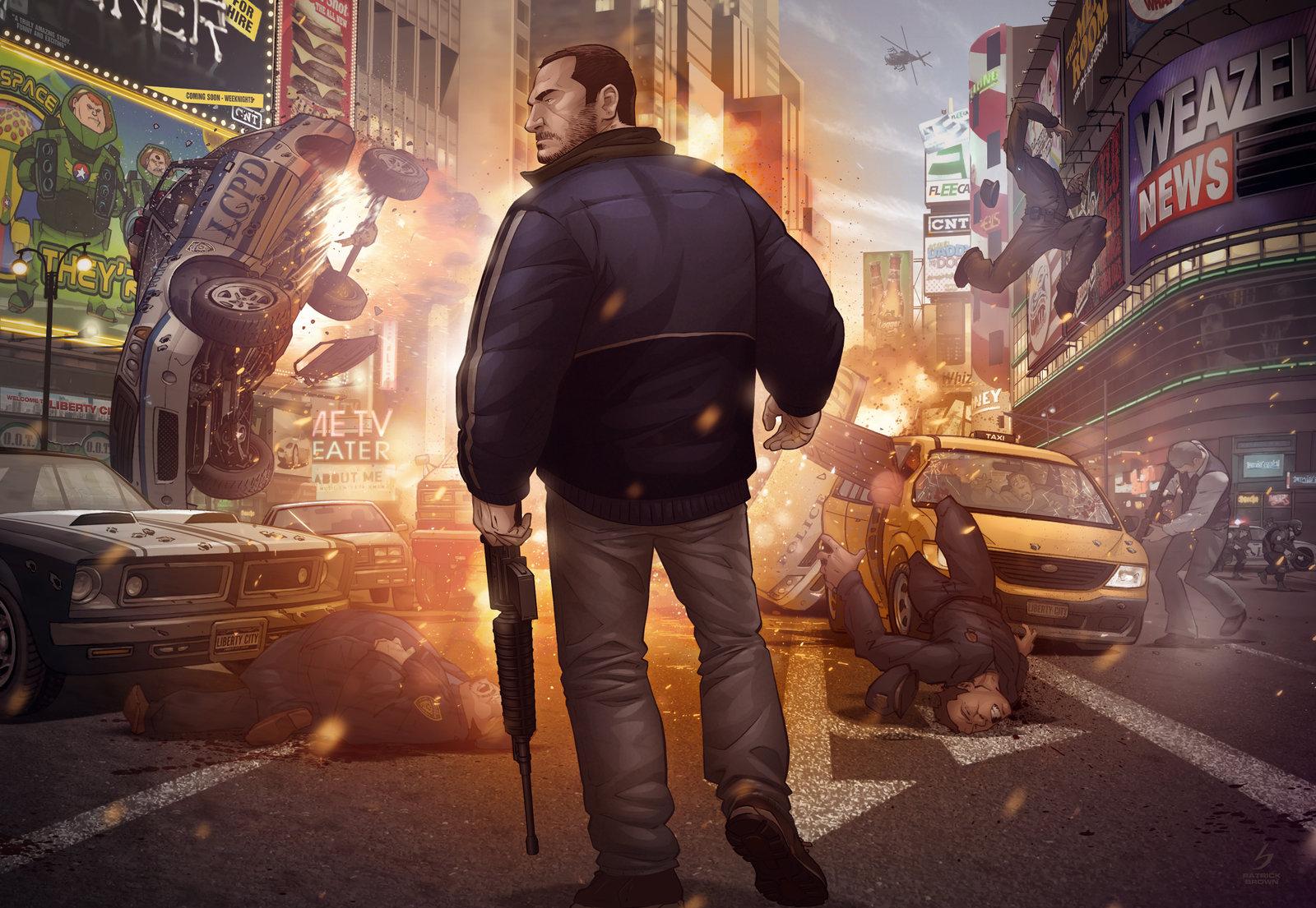 Арт к игре Grand Theft Auto IV