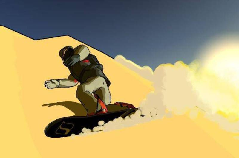 Арт к игре Stoked Rider