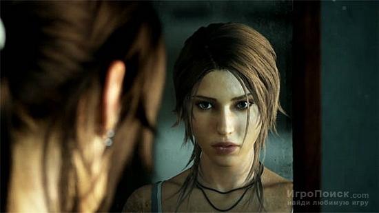Концепт-арты Tomb Raider - Лара прыгает со скалы