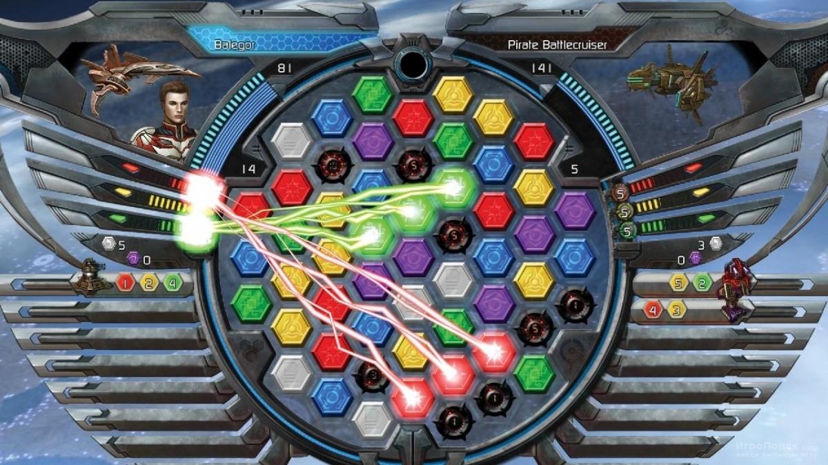 Скриншот к игре Puzzle Quest: Galactrix