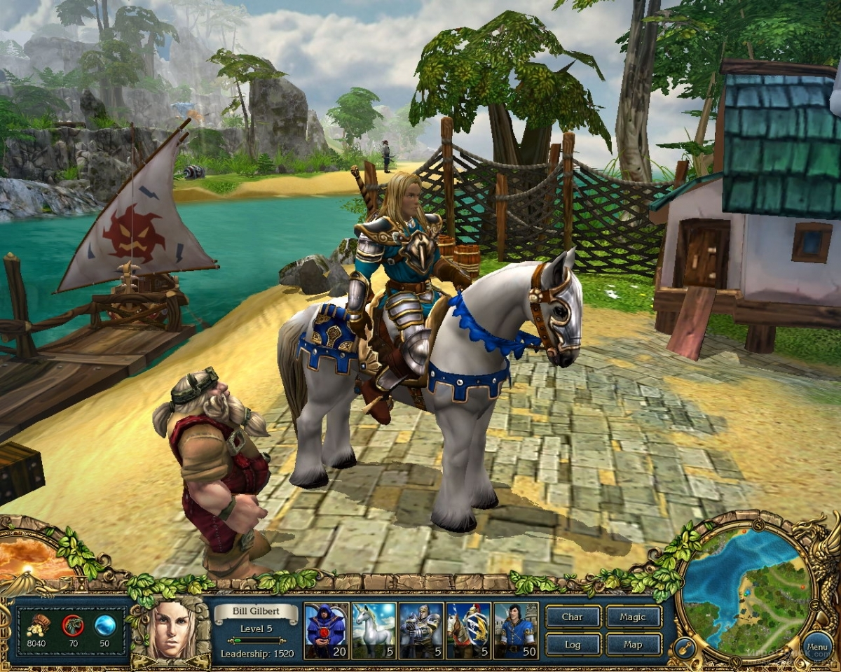 Скриншот к игре King's Bounty: The Legend