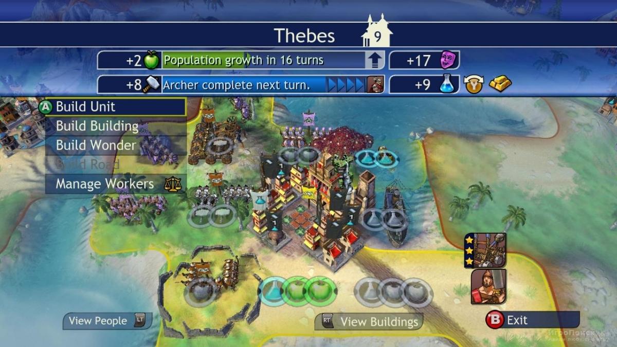 Скриншот к игре Civilization Revolution