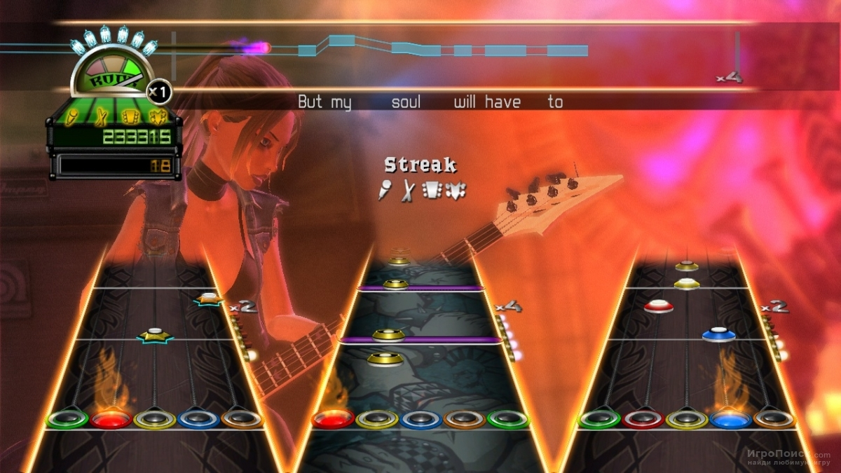 Скриншот к игре Guitar Hero: World Tour