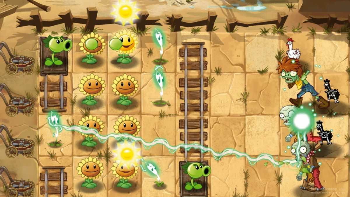 Скриншот к игре Plants vs Zombies 2: It's About time