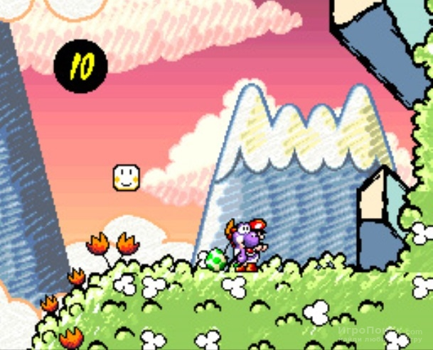 Скриншот к игре Super Mario World 2: Yoshi's Island