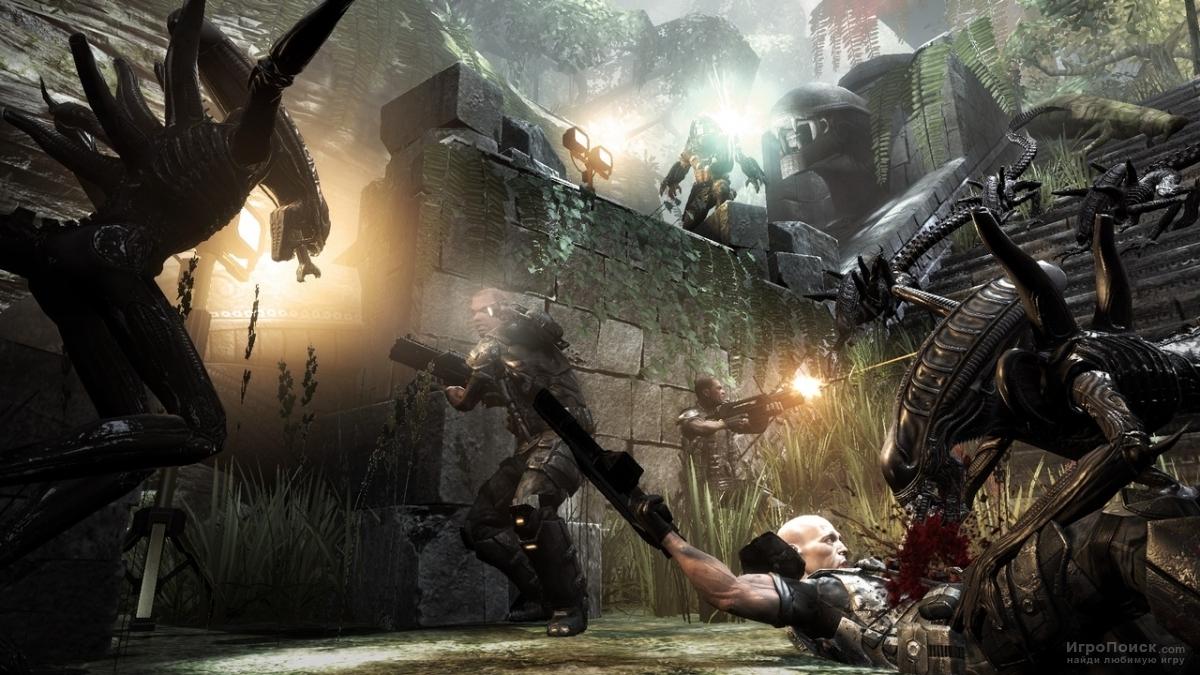 Скриншот к игре Aliens vs. Predator 2010