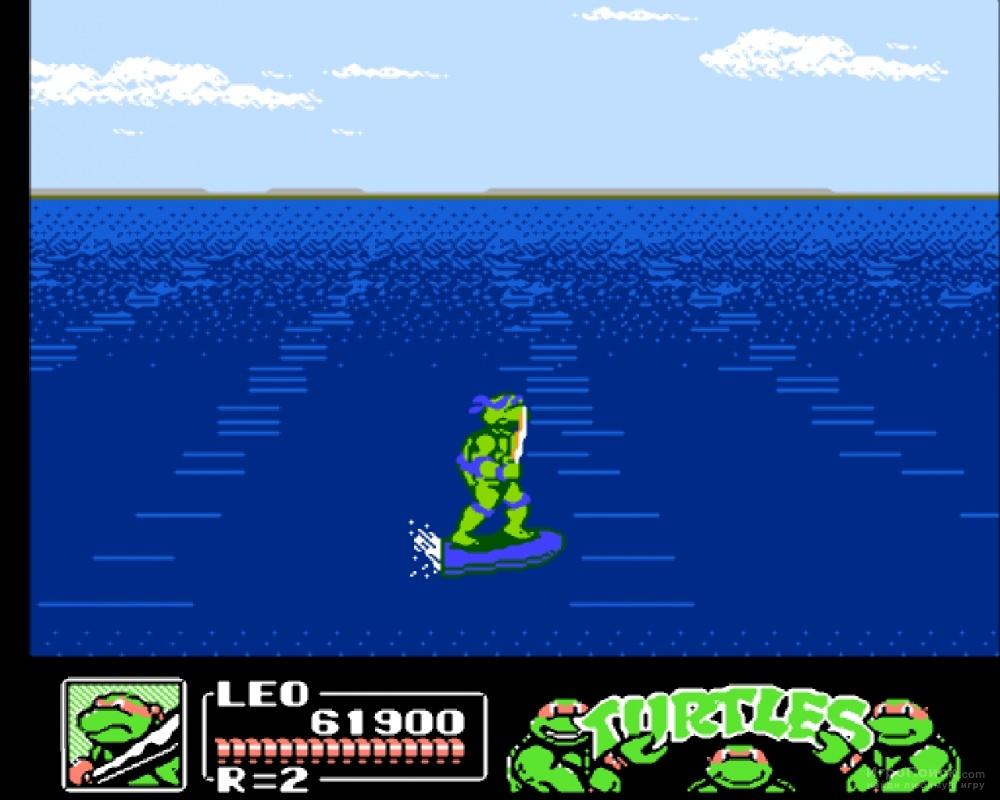 Скриншот к игре Teenage Mutant Ninja Turtles III: The Manhattan Project