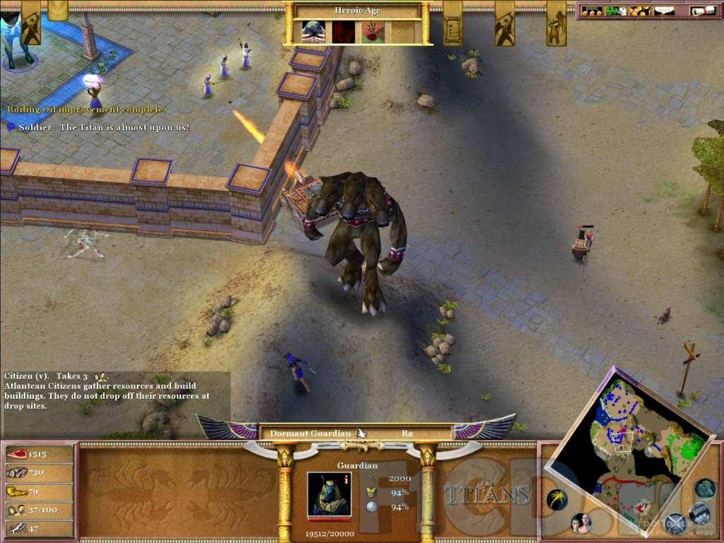 Скриншот к игре Age of Mythology: The Titans