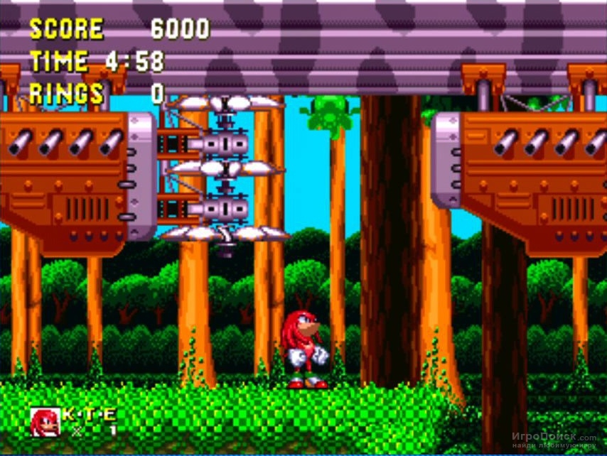 Скриншот к игре Sonic  and Knuckles