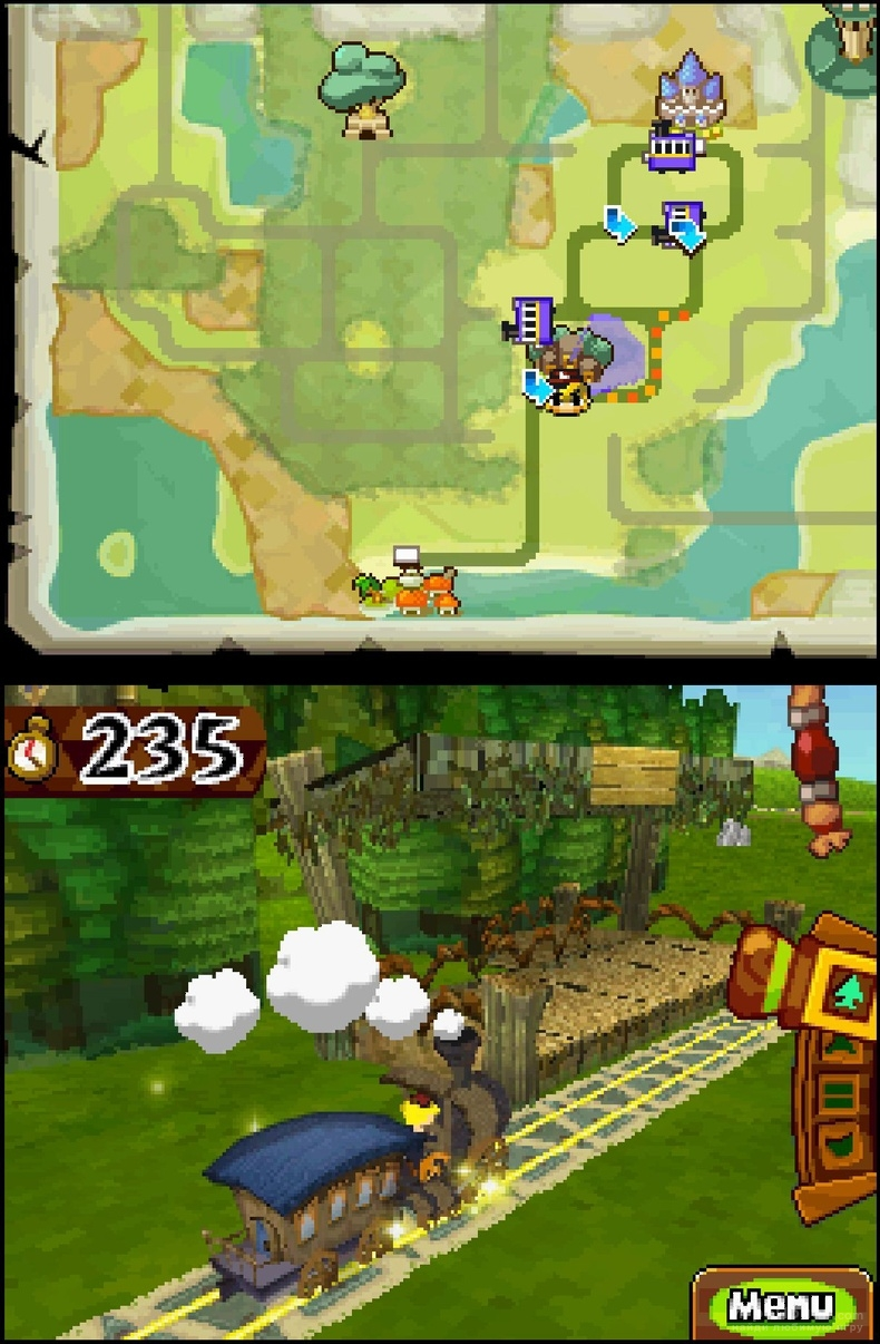Скриншот к игре The Legend of Zelda: Spirit Tracks