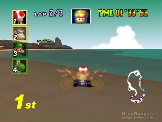 Скриншот к игре Mario Kart 64