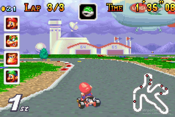 Скриншот к игре Mario Kart: Super Circuit