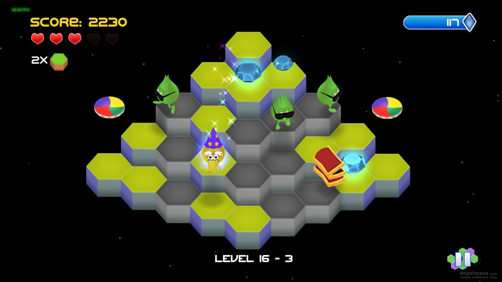 Скриншот к игре Q bert: Rebooted