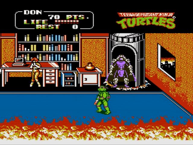 Скриншот к игре Teenage Mutant Ninja Turtles II: The Arcade Game