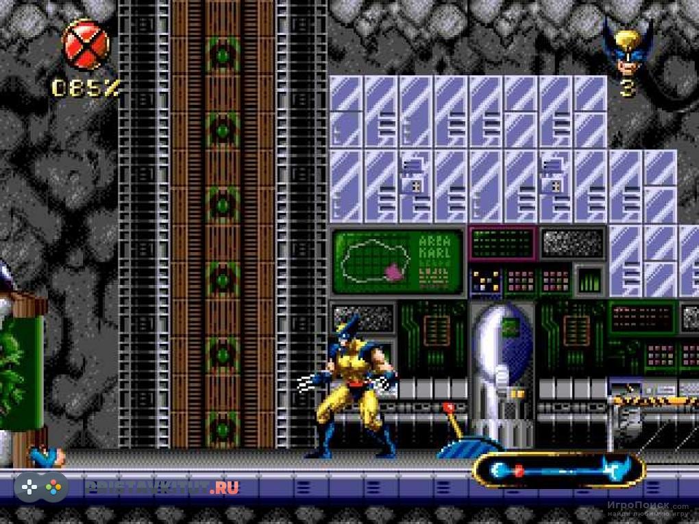 Скриншот к игре Wolverine: Adamantium Rage for Sega Mega Drive