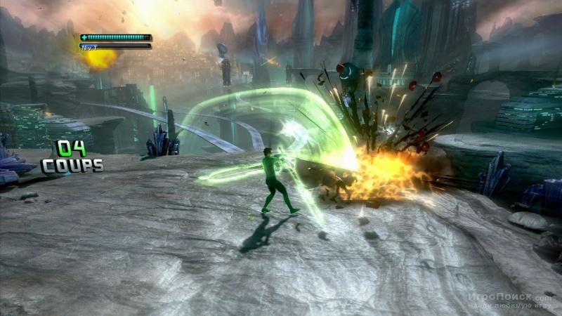 Скриншот к игре Green Lantern: Rise of the Manhunters