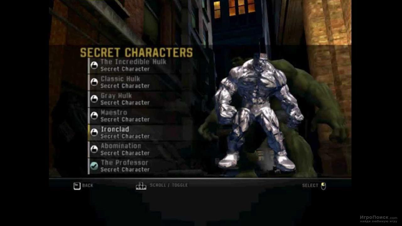 Скриншот к игре The Incredible Hulk 2008