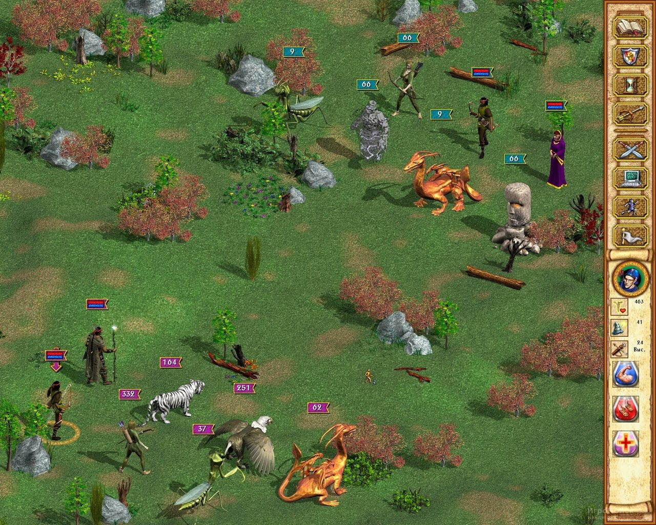Скриншот к игре Heroes of Might and Magic IV
