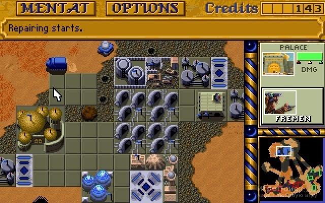 Скриншот к игре Dune II: The Building of a Dynasty