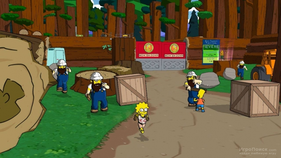 Скриншот к игре The Simpsons Game