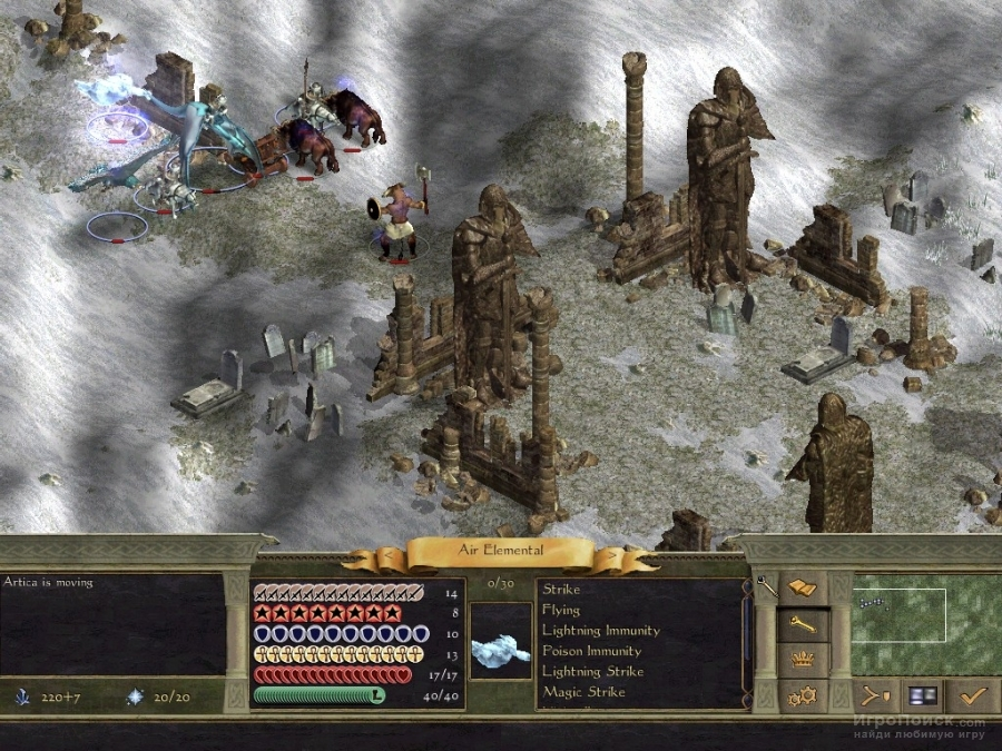 Скриншот к игре Age of Wonders II: The Wizard's Throne