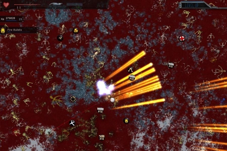 Скриншот к игре Crimsonland