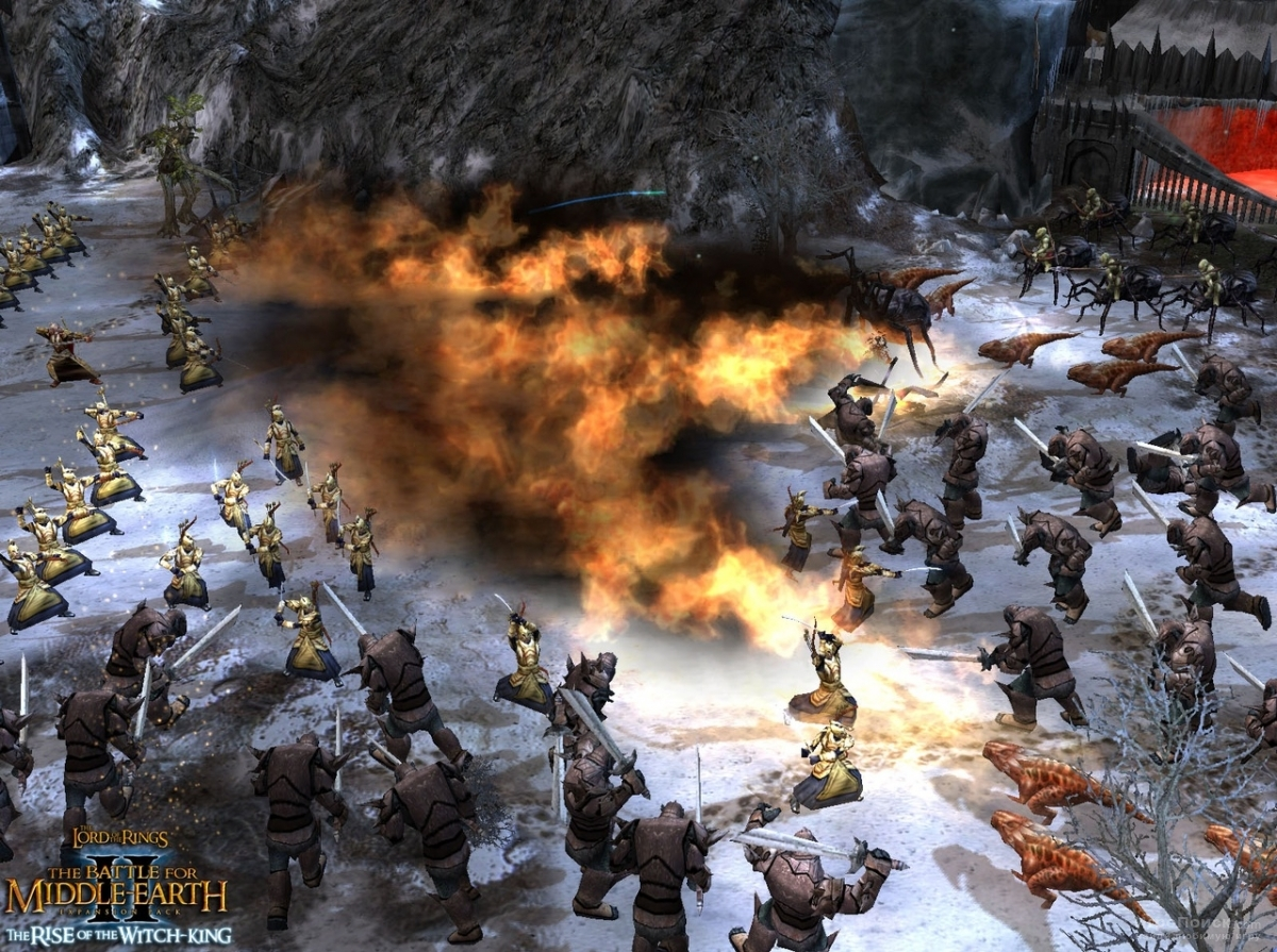 Скриншот к игре The Lord of the Rings: The Battle for Middle-earth II - The Rise of the Witch-King