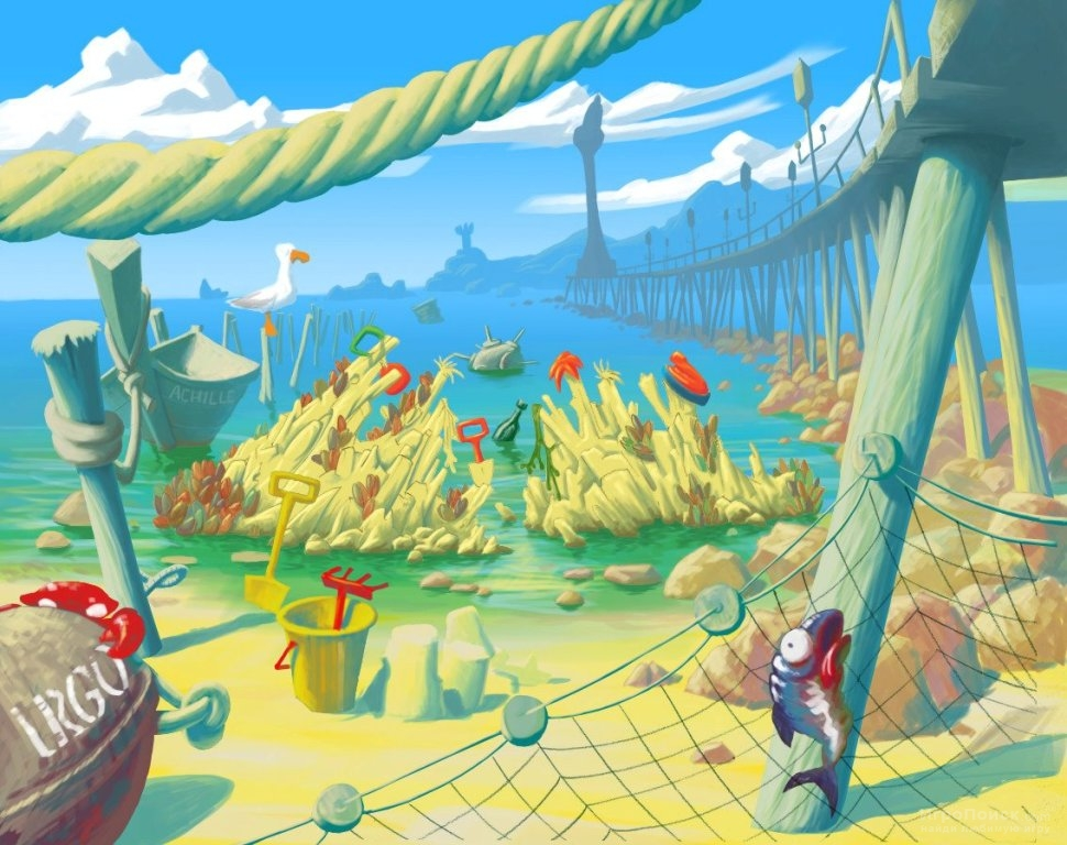 Скриншот к игре Worms Revolution