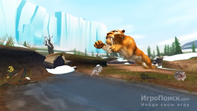 Скриншот к игре Ice Age 3: Dawn of the Dinosaurs